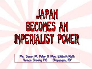 Japan becomes an imperialist power