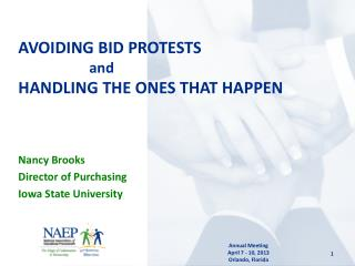AVOIDING BID PROTESTS   and HANDLING THE ONES THAT HAPPEN
