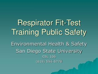 Respirator Fit-Test Training Public Safety