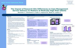 The Impact of Research Site Differences on Case Management Service Delivery to Mothers of Medically High-Risk Infants Ba