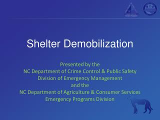Shelter Demobilization