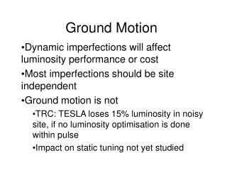 Ground Motion