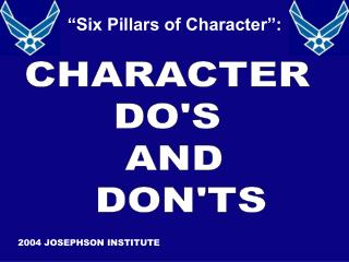 CHARACTER  DOS  AND  DONTS