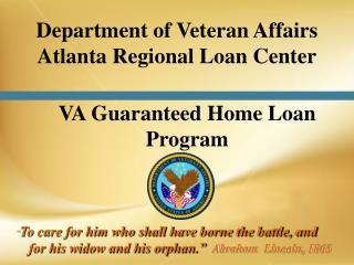 VA Guaranteed Home Loan Program