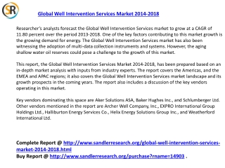 Global Well Intervention Services Market 2018 Forecast