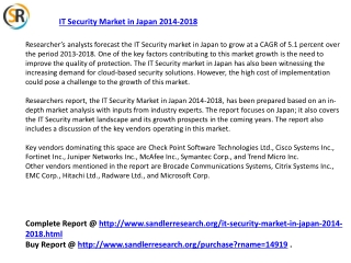 IT Security Market in Japan 2018 Forecast in Research Report