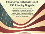 oklahoma national guard 45th infantry brigade