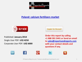 Poland calcium fertilizers Market Forecast