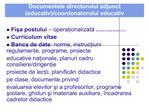 documentele directorului adjunct educativ