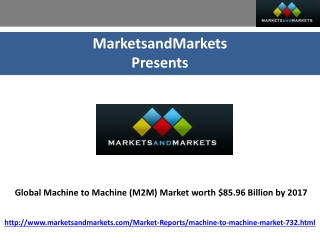 Machine to Machine Market worth $85.96 Billion by 2017