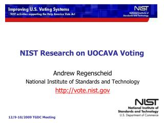 NIST Research on UOCAVA Voting