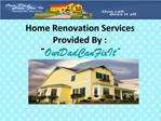 How to Find a Right Home Renovation Company