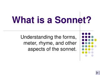 What is a Sonnet