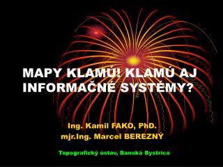 MAPY KLAM  KLAM  AJ INFORMACN  SYST MY