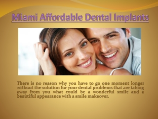 Dental Implant Coupons Miami