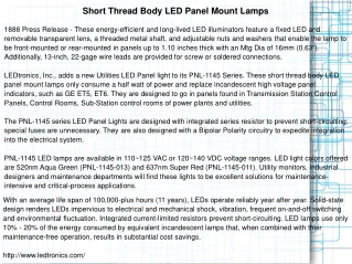 Short Thread Body LED Panel Mount Lamps