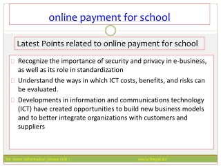 The online payment for school using feepal is secure and sim