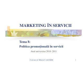 MARKETING  N SERVICII