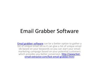 Email Grabber Software