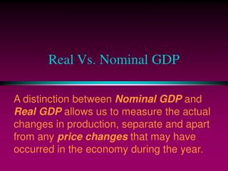 real vs. nominal gdp