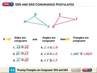 SSS AND SAS CONGRUENCE POSTULATES