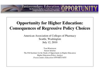 Intro Opportunity for Higher Education: