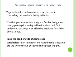 Benefits Of Including Yoga In Your Routine