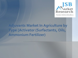 Adjuvants Market In Agriculture by Type