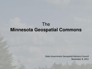 The Minnesota Geospatial Commons