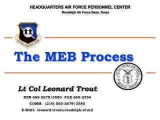 lt col leonard trout dsn 665-2679