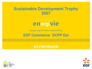 Sustainable Development Trophy 2007   energivie Energy savings for a better standard of living  EDF Commerce  -  DCPP Es