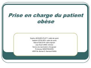 Prise en charge du patient ob se