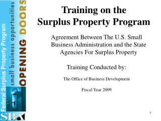 Training on the Surplus Property Program