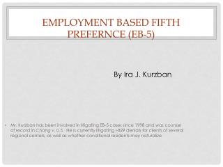 employment based fifth prefernce eb-5