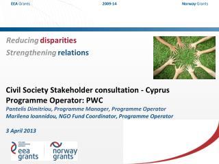 Civil Society Stakeholder consultation - Cyprus Programme Operator: PWC  Pantelis Dimitriou, Programme Manager, Programm