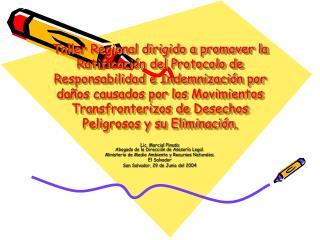 Taller Regional dirigido a promover la Ratificaci n del Protocolo de Responsabilidad e Indemnizaci n por da os causados