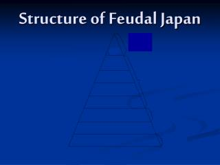 Structure of Feudal Japan