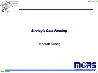 strategic data farming