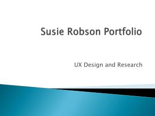 Susie Robson Portfolio