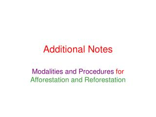 Additional Notes