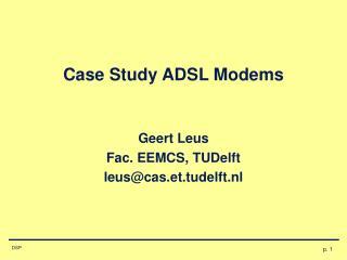 Case Study ADSL Modems