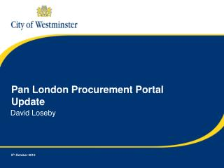 Pan London Procurement Portal Update