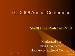 TCI 2006 Annual Conference