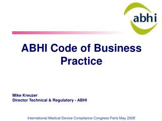 ABHI Code of Business Practice