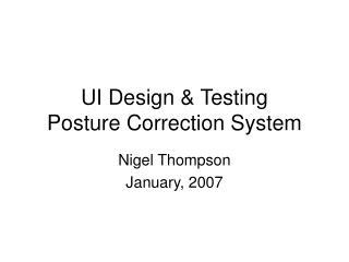 UI Design  Testing Posture Correction System