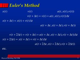 Euler s Method