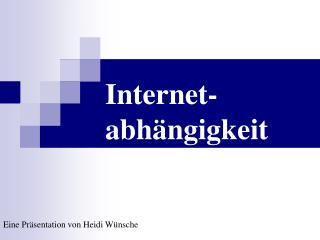 Internet-abh ngigkeit