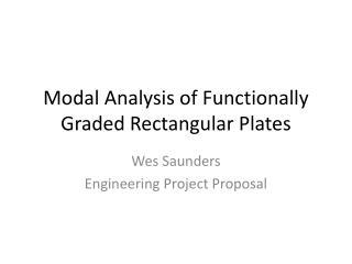 Modal Analysis of Functionally Graded Rectangular Plates