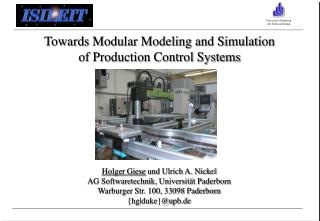 Towards Modular Modeling and Simulation of Production Control Systems