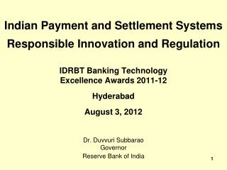 Indian Payment and Settlement Systems Responsible Innovation and Regulation